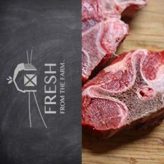 Fresh From the Farm Grass Fed Beef Neck Bone Large